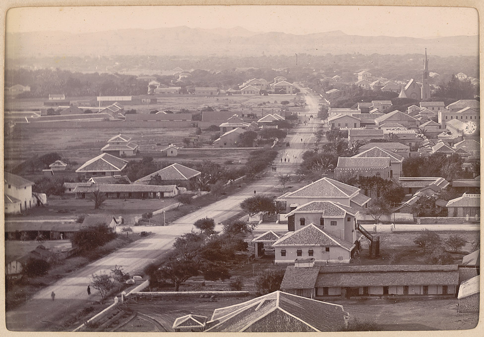 Bird's eye view Victoria Road 1900
