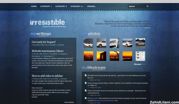 Irresistible - FREE WordPress Theme