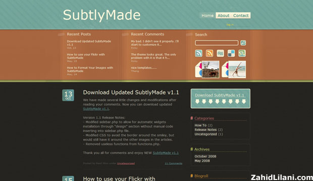 SubtlyMade - FREE WordPress Theme