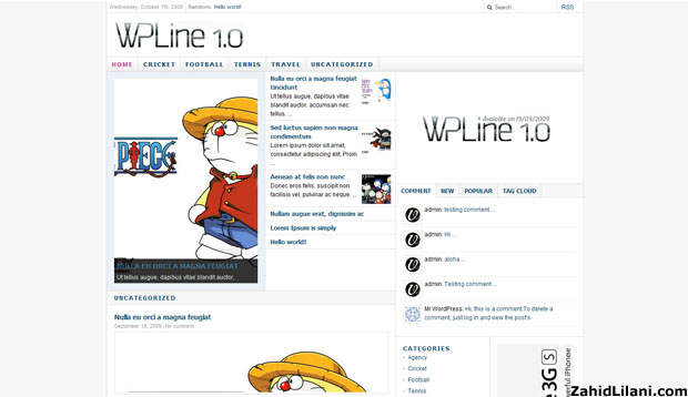 wpline - Free WordPress Theme