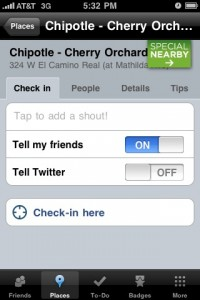 Foursquare Special Nearby