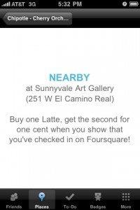 Foursquare Special Nearby Ad
