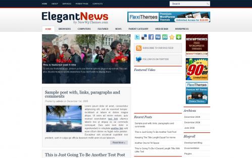 Elegant News - Free Premium Magazine Theme