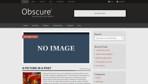 Obscure - FREE Premium WordPress Theme