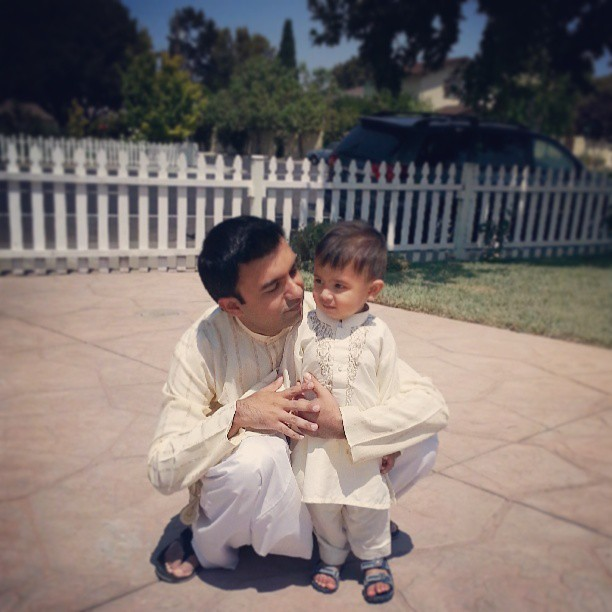 Cutest baby in shalwaar kurta. #eid #duo #cutenessoverload