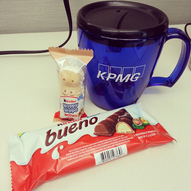 It's a good day when Senior gives you Kinder. #bueno #sweet #kpmg #taxlife