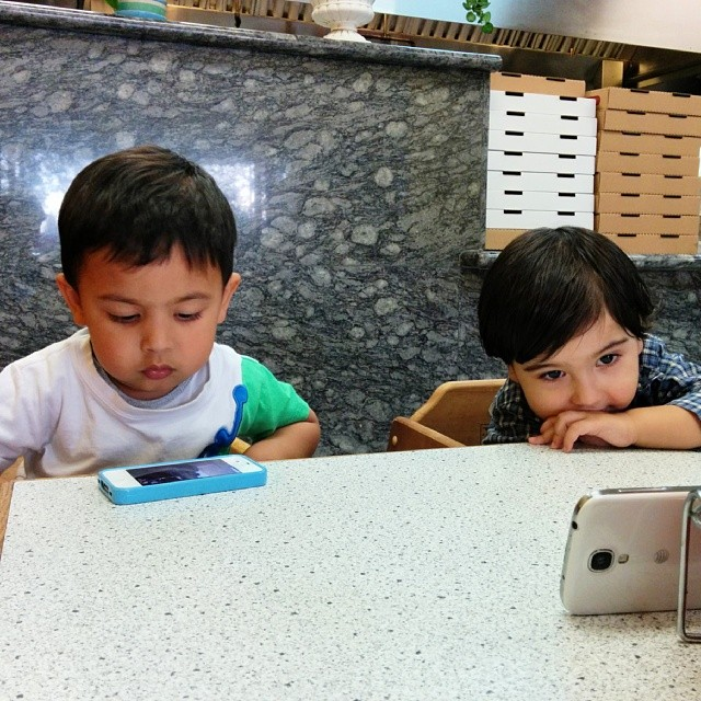 Kids these days #spoiled #screenjunkies