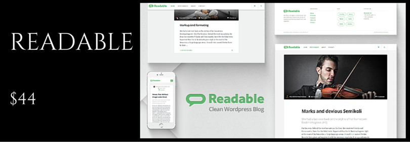 Readable - Clean, Minimal, Medium, Magazine, Blog and Journal WordPress Theme